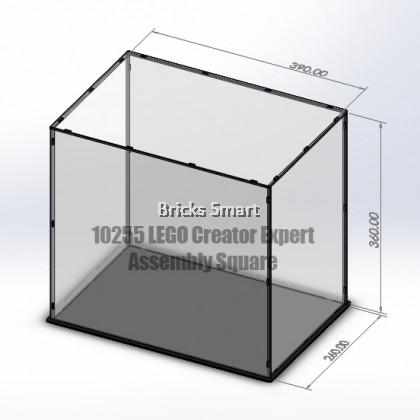 Acrylic Case with Black Base for 10255 LEGO Creator Expert Assembly Square