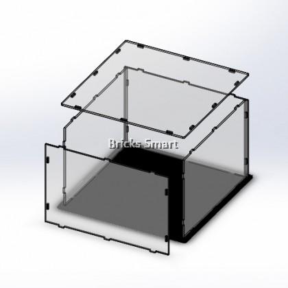 Acrylic Case with Black Base for 21029 LEGO Architecture Buckingham Palace