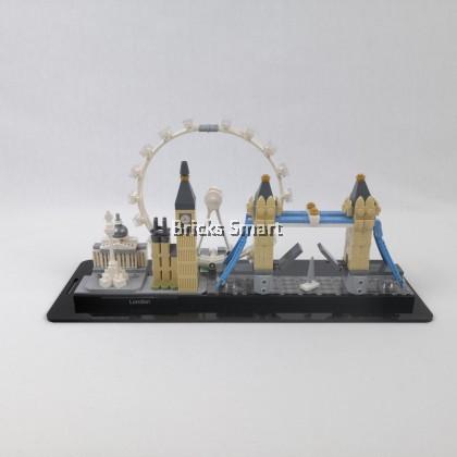 Acrylic Case with Black Base for 21034 LEGO Architecture London
